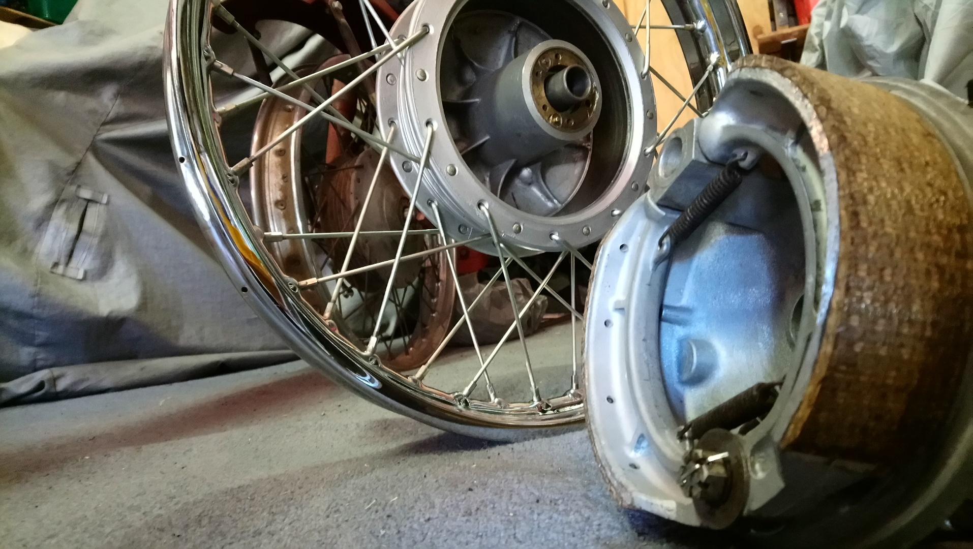 bsa 500 motorbike brake shoes woven sydney australia