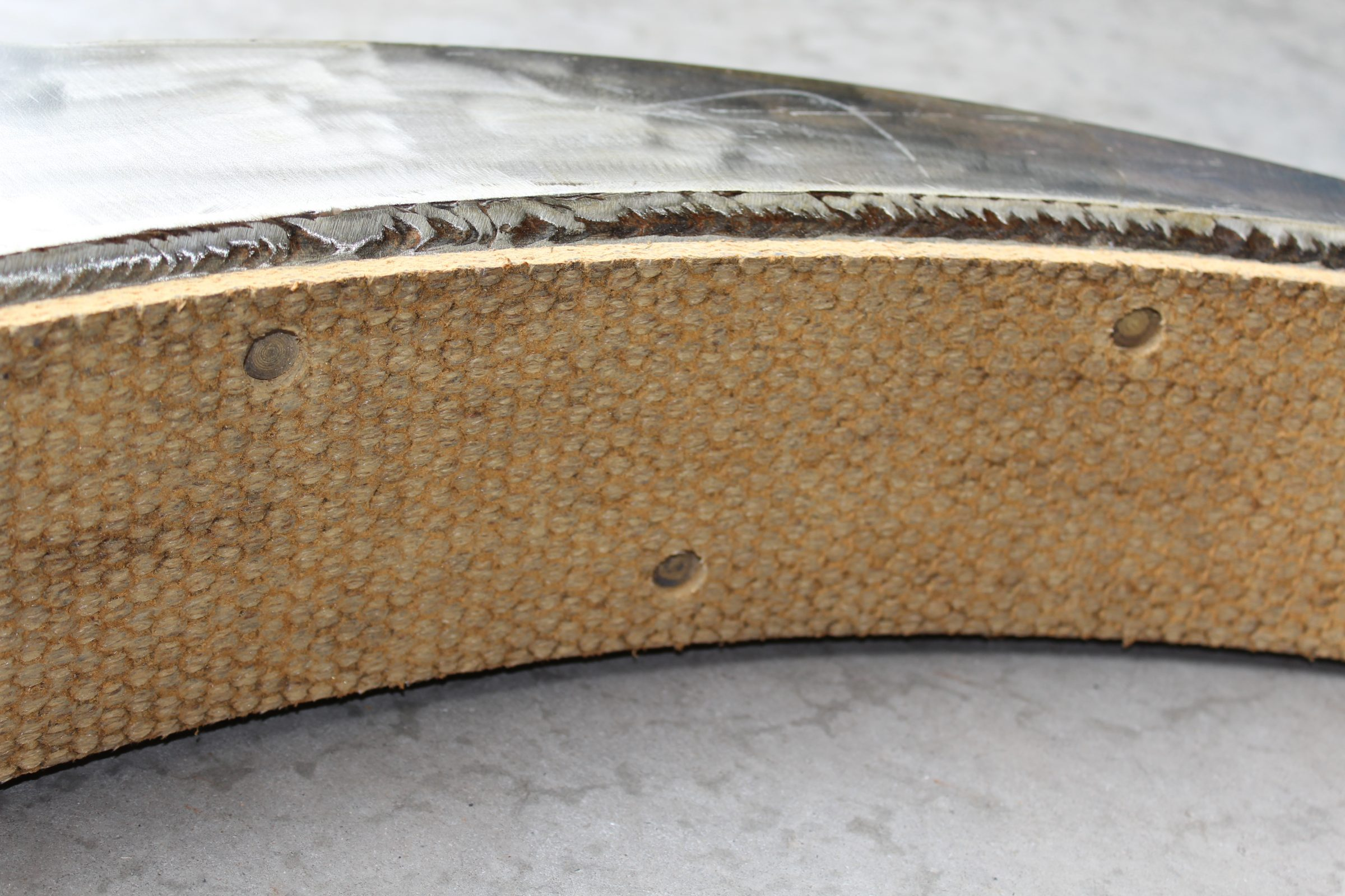 woven riveted crane brake band re-lined